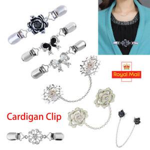 Women Ladies Cardigan Shawl Brooch Duck Clip Clasps Sweater Blouse Shirt Pin UK