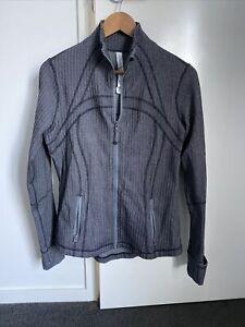 Lululemon Define Jacket Luon Fabric Heathered Grey Size 12 AU16 As New