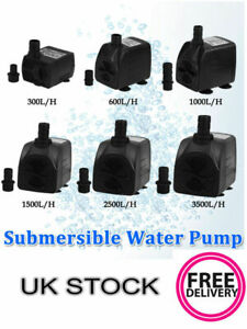 Submersible Water Pump Fish Pond Aquarium Tank Waterfall Fountain Sump Feature