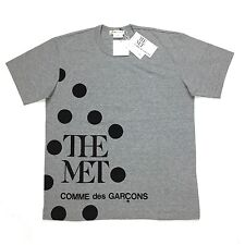 NWT Comme des Garcons CDG x THE MET Men Gray Polka Dot Logo T-Shirt XL AUTHENTIC