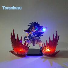 Dragon Ball Z Action FigureSuper Saiyan Raditz Kamehameha Led Light Aura DIY