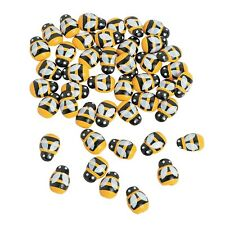 PACK 50 MINI SELF ADHESIVE STICK ON BEES CRAFT GARDEN INSECT PARTY SUPPLIES
