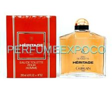 HERITAGE De Guerlain for Men 200ml / 6.8oz EDT Splash Rare Discontinued (BC17)