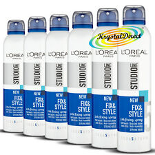 6x L'oreal Loreal Studio Line Fix & Style Strong Hold #5 Fixing Hair Spray 250ml