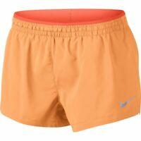 Nike Running Shorts Womens New Orange Flex Elevate 3 Inch Training Large or XL