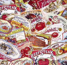 Campbell's Soup Heritage Vintage Ads 100% cotton fabric by the yard