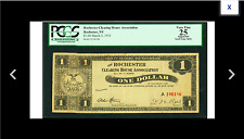 PCGS New York Rochester, NY Rochester Clearing House Association $1 Mar 5 1933