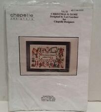 Christmas Is More Lori Gardner Chapelle Designers Cross Stitch Pattern w/ Beads