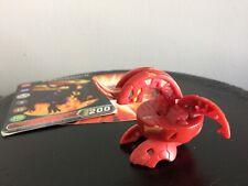 Bakugan Pyrus Dragonoid 510 Marble w/ Metal Gate & Ability Card