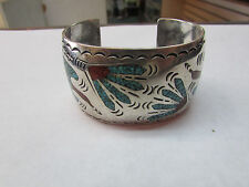 William Singer Zuni Turquoise Cuff Bracelet