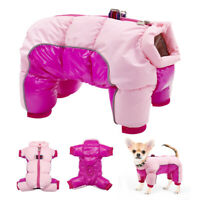 Small Dog Winter Coats Waterproof Pet Clothes Jumpsuit Reflective Jacket Yorkie