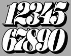 NUMEROS COURSE RACING NUMBERS DRIFT MOTO CROSS AUTOCOLLANT STICKER NU017BN