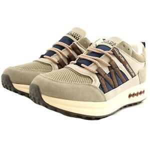 Scarpe sneakers casual Napapijri SLATE uomo pelle tessuto mineral beige