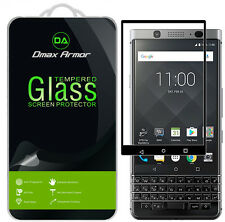 2x Dmax Armor for Blackberry Keyone Tempered Glass Full Cover Screen Protector