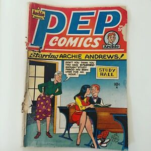 Archie Pep Comics Vol 1 #59 October 1945 Golden Age The Shield Gloomy Gus Rare