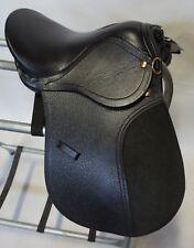 "12"" School Quality Silver Fox Miniature All Purpose English Black Leather Saddle"