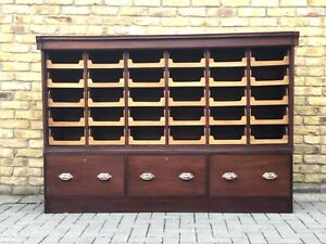 Haberdashery cabinet/vintage wooden filing cabinet/vintage shirt cabinetq