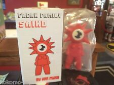 "Von Murr Freak Family Saiko 9"" Designer Vinyl Toy Art MIB RED HEAD RED BODY"