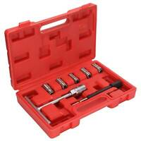 7pcs Universal Diesel Injector Seat Cutter Set Decarbonise Carbon Cleaner Kit