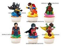 30 The Lego Batman STAND UP Cupcake Fairy Topper Edible Rice Paper Decoration