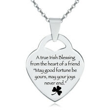 A True Irish Blessing Heart Necklace, from the heart of a friend