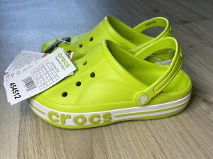 Childrens Kids Crocs Bayaband Lime Punch Clog Size J3