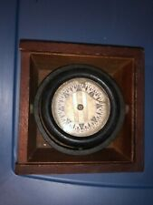 Vintage Wilcox Crittenden & Co LIFEBOAT Nautical Compass In wooden Box