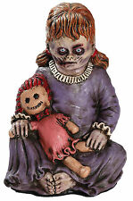 HALLOWEEN BABY ZOMBIE GIRL WITH DOLL  PROP DECORATION HAUNTED HOUSE