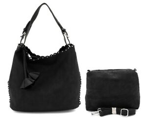 Beautiful Elegant Studded Hobo Bag in a Bag Small Bag Inside 2 Bags for One