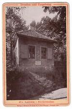 Kabinettfoto Pappfoto Loschwitz Schillerhäuschen Dresden Römmler Jonas 1896 !