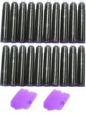 20 - Fountain Pen Refill Ink Cartridges for Montblanc, Cartier - PURPLE MIST