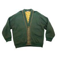Trussardi Quilted Wool Cardigan Sweater | Vintage Knitwear Designer Green VTG