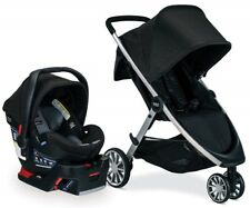 Britax B-Lively Stroller & B-Safe Ultra Infant Car Seat Travel System Noir NEW