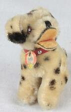 Antique Vintage Steiff Toy Dog Dally Sitting Dalmatian Collar w/Tag Mohair 1950s