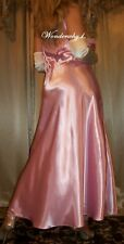 Vtg Style Fair Pink Satin Long Nightgown Negligee Lingerie Slip 42 44 XL 1X