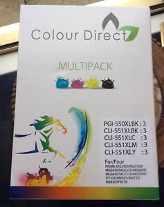 "New ColourDirect 550 & 551 Compatible Ink Cartridges for ""Canon Printers"" N/R"