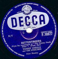 TOMMY STEELE  78   CANNIBAL POT / BUTTERFINGERS  UK No. 8   DECCA F 10877 E-