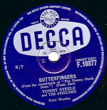 "TOMMY STEELE UK No.8  RnR 78 "" CANNIBAL POT / BUTTERFINGERS ""  DECCA F10877 EX-"