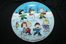 "Peanuts Magical Moments ""Winter Wonderland"" Danbury Mint 8"" plate"