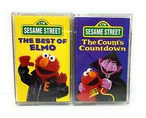 "Sesame Street Cassettes 1997 Set : ""The Best of Elmo"" & ""The Count's Countdown"""