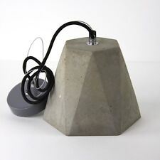 Geo concrete industrial cement pendant hanging bedside table lamp light modern