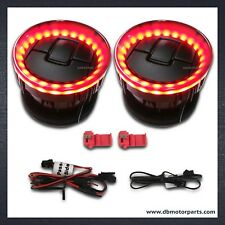 2pc LED Red Light  Dash Air Duct Vent Louver fit for 2009-2014 F150
