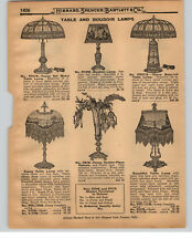 1927 PAPER AD 3 PG Electric Lamp Fancy Center Piece Base Lit Bridge Floor