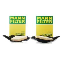 Pair Set of Left & Right Mann Air Filters Cylinders 1-4 5-8 For BMW F07 F10 E70