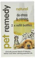 Pet Remedy Natural Stress Relief Calming 40ml Refills, Pack of 2, Cat Dog Horse
