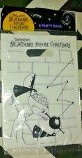 (2) Nightmare Before Christmas Party pack of 8 loot bags DISNEY Tim Burton NIP