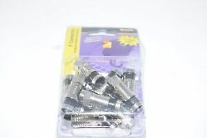 NEW Platinum Tools 18007 F RG6 Compression, Nickel 10/Clamshell, Pack of 10