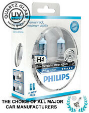 PHILIPS H4 WHITE VISION 4300K Xenon Crystal WhiteVision +2 W5W | 100% GENUINE!