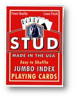 Stud Jumbo Index Jugando a las Cartas Rojo Póquer Juego de Cartas Cardistry