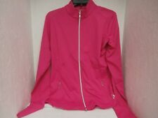 JoFit  Women's  UT113 Contoured Thumbs Up Jacket Raspberry Size Large New !!!